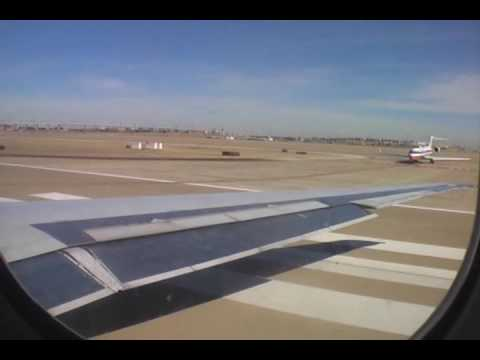American Airlines - Boeing MD80 - Takeoff from Dallas-Fort Worth