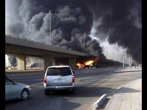 image vid�o انفجار كبير بمدينة الرياض السعودية