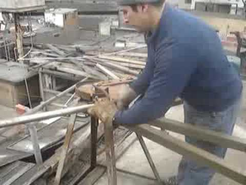 dobladora de tubo casera