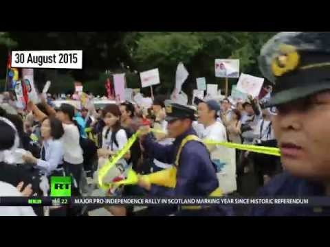 Japan readies for war? New military bill sparks fierce protests