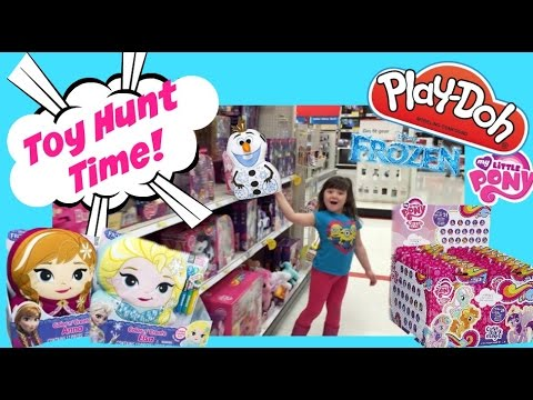 Disney Frozen Play Doh Toys Anna, Elsa Olaf  My Little Pony Play Doh And Blind Bags  Toy Hunt!! video