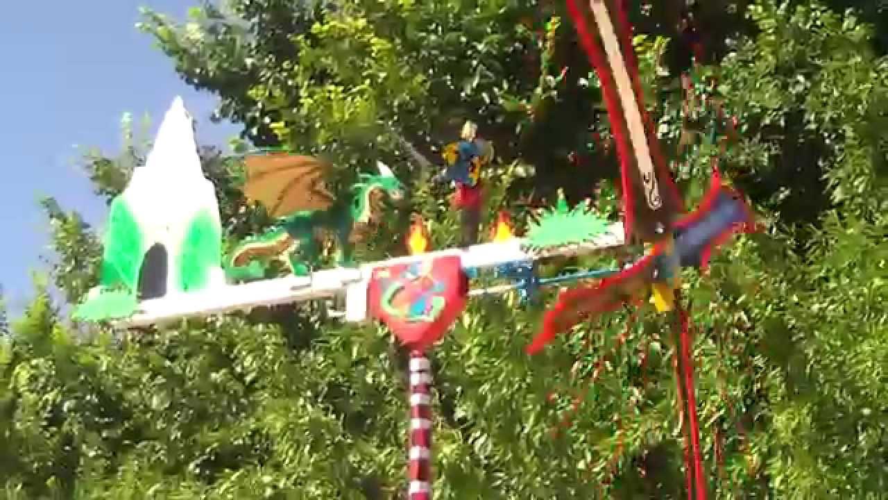 Molino de viento dragon youtube for Molinos de viento para jardin