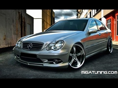 mercedes c class w203 tuning body kit youtube. Black Bedroom Furniture Sets. Home Design Ideas