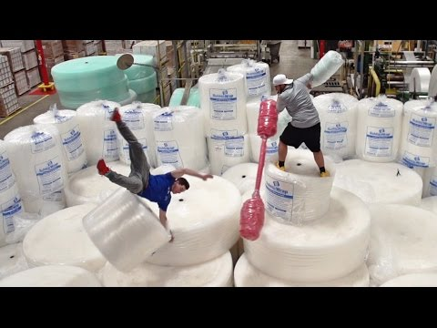 Bubble Wrap Battle | Dude Perfect