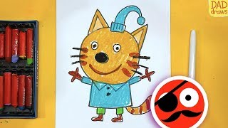 How to draw a Boy Cat Kid-E-Cats / Cartoons for kids