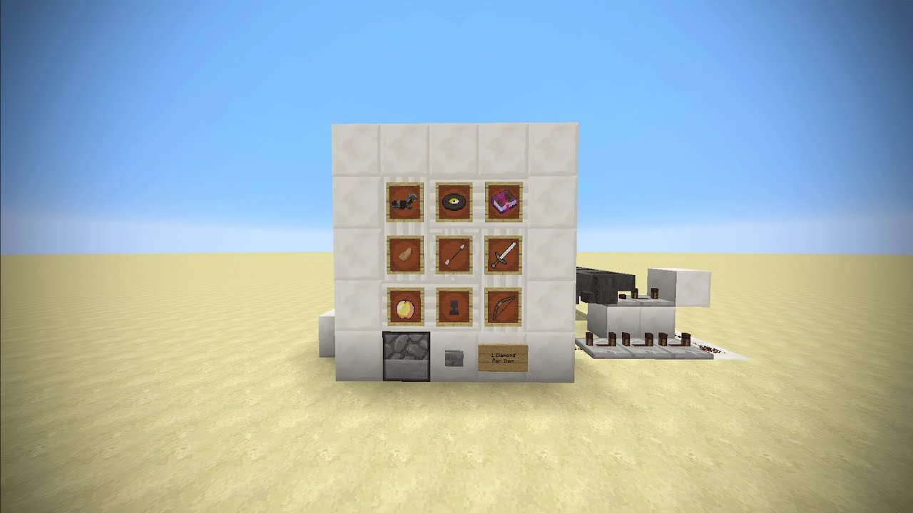 how to make a vending machine in minecraft