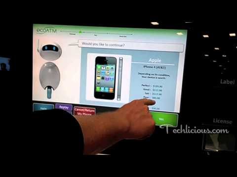 EcoATM Cell Phone Recycling Kiosk Hands-On