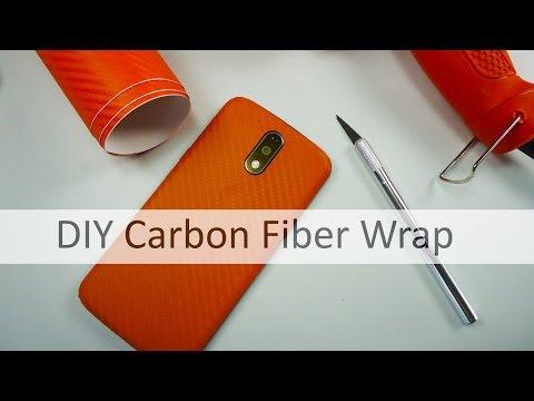 DIY Carbon Fiber Wrap Moto G4 plus