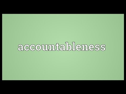 Header of accountableness