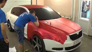 Wrap Job TeckWrap Red Matte Metallic Full Wrap by Vinil Masters Russia