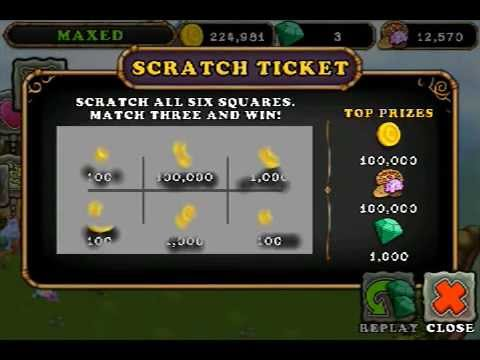 How to skip My Singing Monsters Daily Scratch Ticket - YouTube