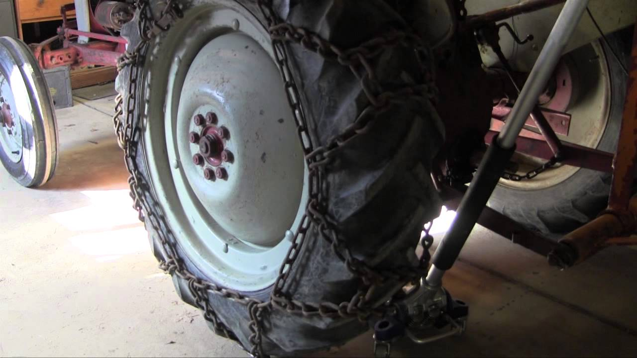 Installing Tire Chains On Ole 27 1953 Ford Jubilee Tractor