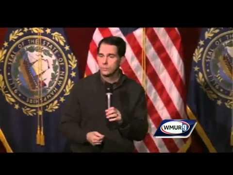 Raw Video: Scott Walker speaks in Concord