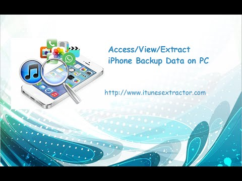 Free Access/View/Extract iPhone Backup Data like Contacts, SMS, Photos, Notes, WhatsApp, etc.