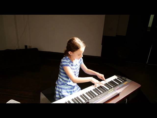 Clemmy (8) plays Wild Appaloosa on piano at Spring Recital 2014