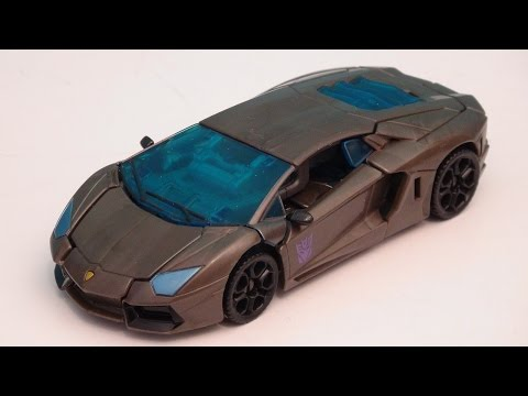 TRANSFORMERS 4 LOCKDOWN DELUXE CLASS AGE OF EXTINCTION VIDEO TOY REVIEW