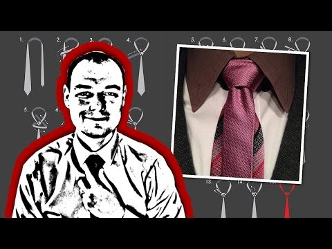 How to tie a murrell necktie knot how to make do for Nudos de corbata modernos