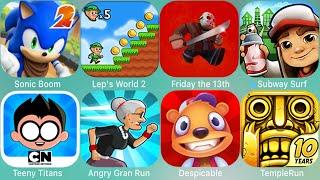 Super Mario Run,Teen Titans Go,Subway Surfers,Miraculous,Spider-Man,Sonic,Gran Run,Friday The 13th