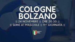 Serie A1M [9^]: Cologne - Bolzano 26-29