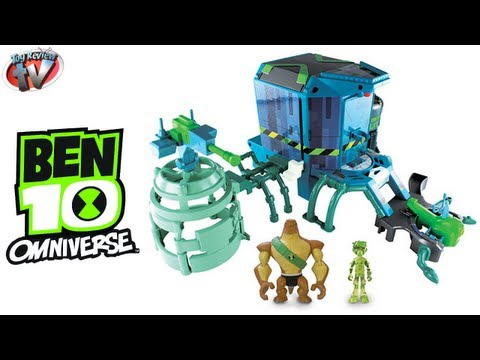 Ben 10 Omniverse Transformation Station Set Toy Review. Bandai