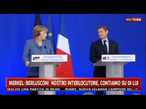 La Merkel e Sarkozy ridono di Berlusconi (23/10'11)