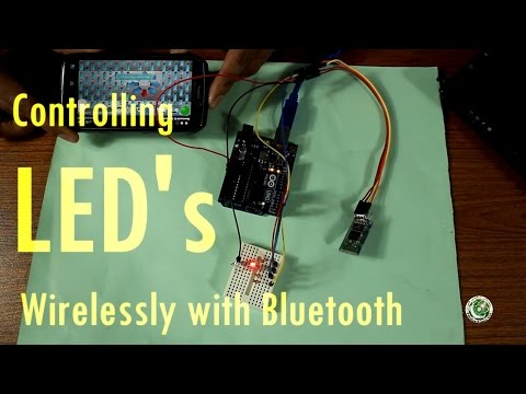 Arduino Tutorial #6 In Urdu, Controlling LED's Wirelessly Via Bluetooth