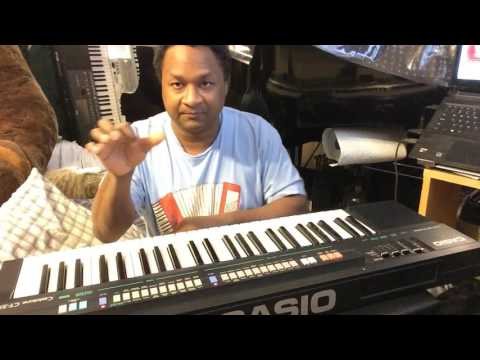 My vintage 1987 Casio CT-370  Sound Demo by Kris Nicholson