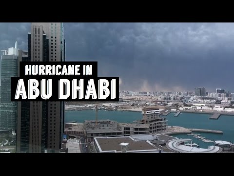 TRAPPED BY A HURRICANE IN ABU DHABI
