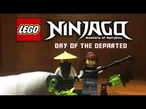 LEGO Ninjago Custom HUMAN SENSEI YANG Minifigure from Day of the Departed Special 2016 Season 7