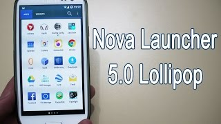 Nova Launcher 5.0 Lollipop Material Design Theme (White App Drawer)