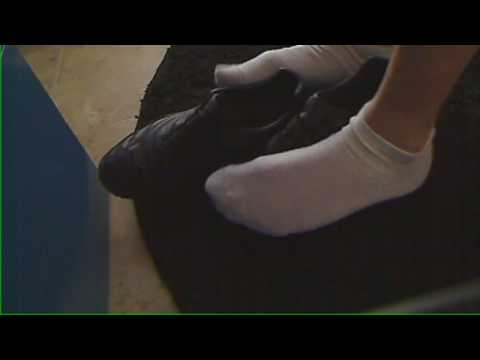 More Sock and Sneaker Play Under Desk Video