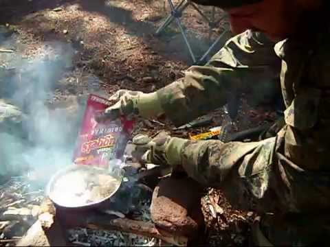 145-WOODLAND SURVIVAL SKILLS: ARCHERY. FIRE STARTING. CAMP COOKING. AND RIFLE TRAINING. PART 2 of 2