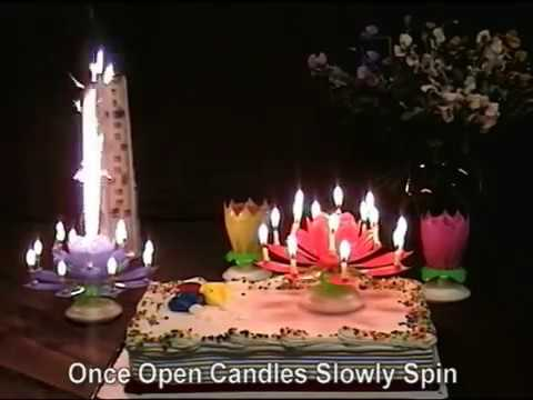 Lotus Flower Musical Birthday Candles Youtube