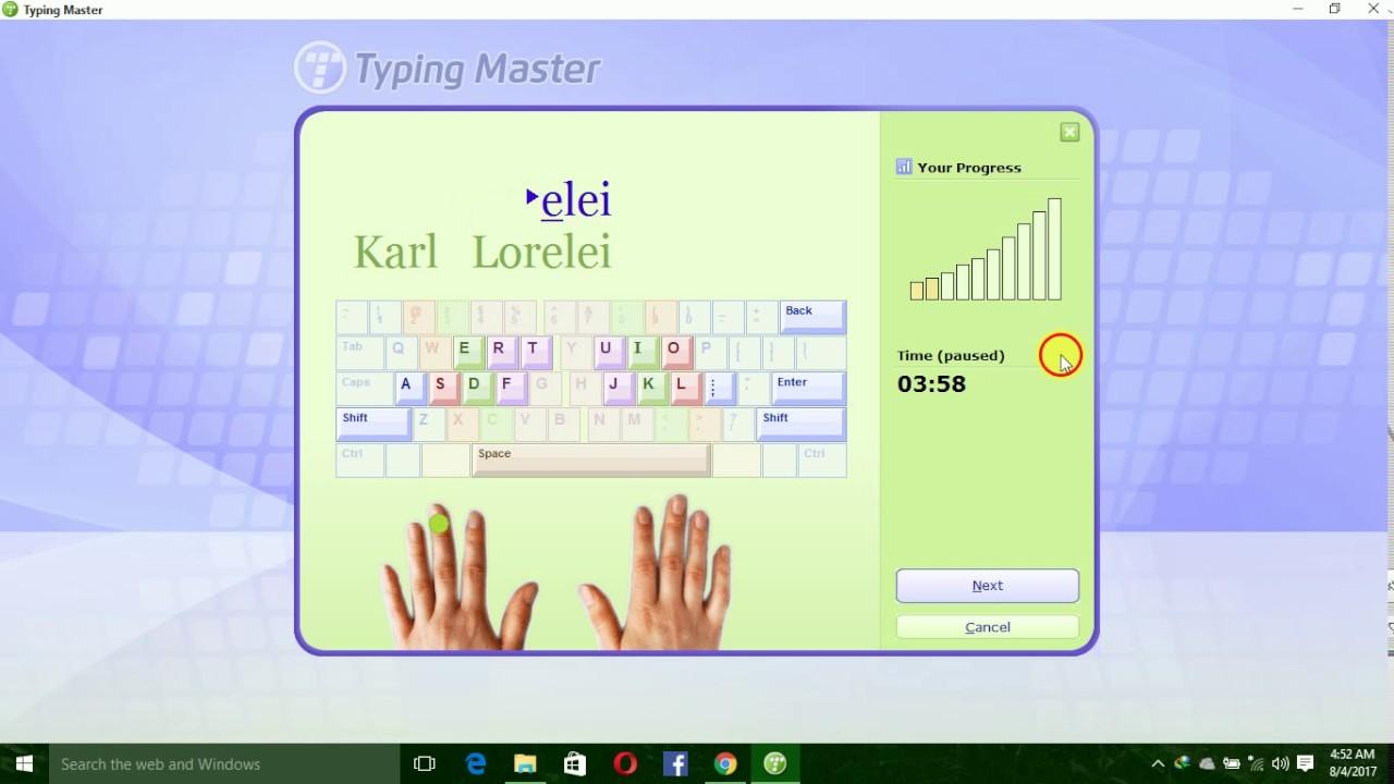 master typing test online
