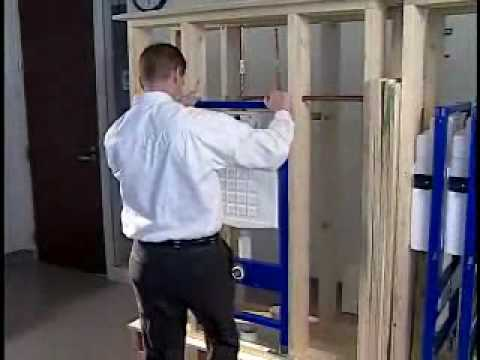 How To Install A Geberit Wall Hung Toilet Carrier With