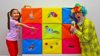 Pretend Play Toy Challenge - Mismatch Toys in Colorful Boxes