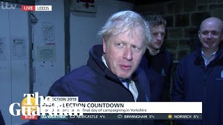 Boris Johnson hides in fridge to avoid TV interview