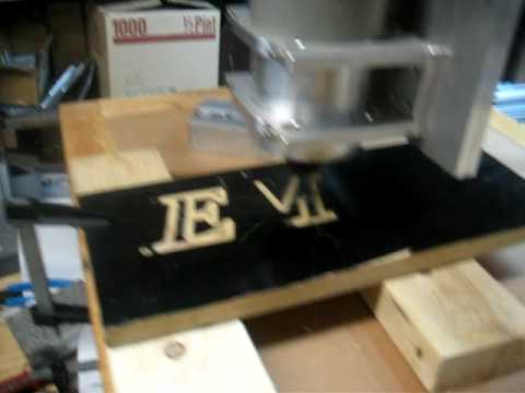 emc cnc linux router test