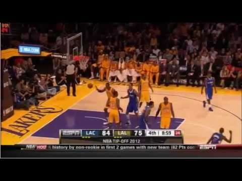 Lamar Odom Deep 3 pointer  Lakers-Clippers 11-2-12