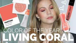 LIVING CORAL Shop Your Stash Tutorial// 2019 Color of the Year!