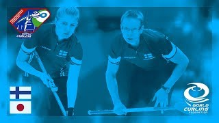 Finland v Japan - Round-robin - World Mixed Doubles Curling Championship 2018