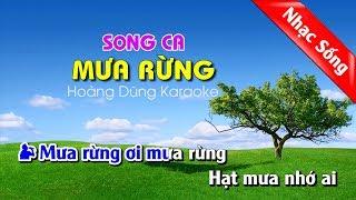 Mưa Rừng Karaoke Nhạc sống - Mua rung karaoke song ca