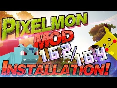 Minecraft Mod: PIXELMON/POKEMON 1.6.4 [German/HD+] Preview. Download + Installation