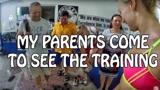 My parents came to see my training & Russian Karaoke ❤ Katya's Vlog