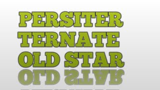PERSITER OLD STAR TERNATE