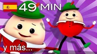 Humpty Dumpty al muro trepó | Y muchas más canciones infantiles | ¡49 min de LittleBabyBum!