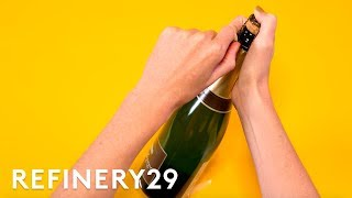 How To Pop Champagne | Food Hacks | Refinery29