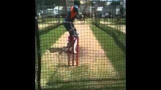 Brad Haddin batting in the nets