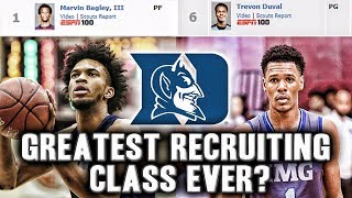 How Duke Might Have The Greatest Recruiting Class Ever | The #1 Player In The Country And The #1 PG