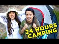 24 Hour Overnight Camping Challenge In Our Back Yard   Merrell Twins